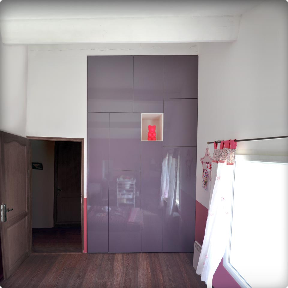Placard contemporain pour chambre d 39 enfant reynier agenceur - Placard integre chambre ...