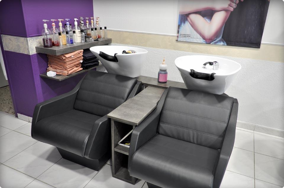 Agencement d 39 un salon de coiffure reynier agenceur for Agencement salon