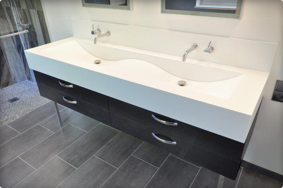 un agencement qui cloisonne une chambre et une salle de bain reynier agenceur. Black Bedroom Furniture Sets. Home Design Ideas