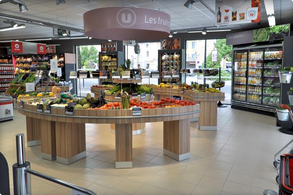 Nouveau meuble lot fruits et l gumes 3 niveaux reynier agenceur - Meuble legume ...