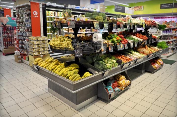 Nouveau meuble : îlot fruits et légumes 3 niveaux