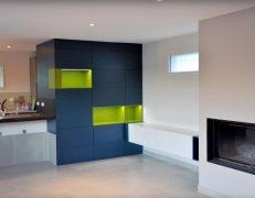 Un meuble cuisine et salon