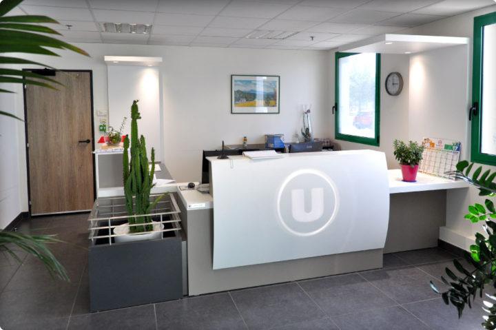 Agencement au nouveau siège du Système U Proximité France