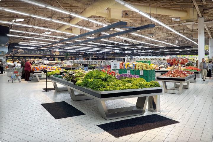 Une grande zone fruits et légumes pour le Centre Leclerc de Bollène