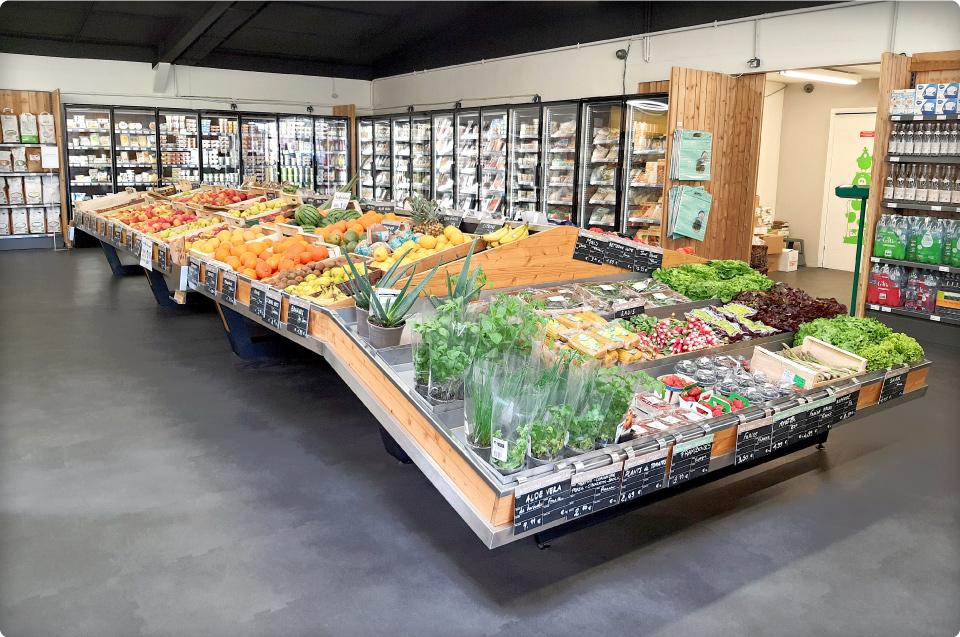 Table fruits et légumes pour La vie Claire Alès
